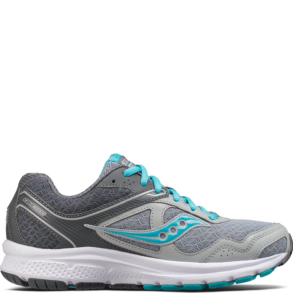 Saucony Women's Cohesion 10 Running Shoe, Grey Blue, 9 Medium US
