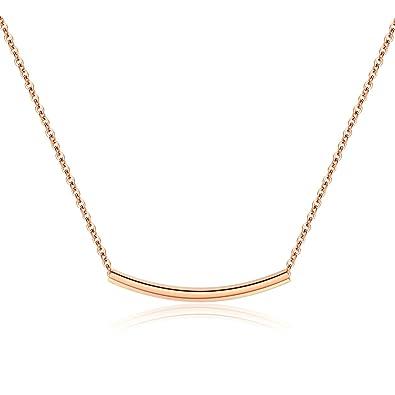 AieniD Colgante Collar Acero Inoxidable Collar para Mujer ...