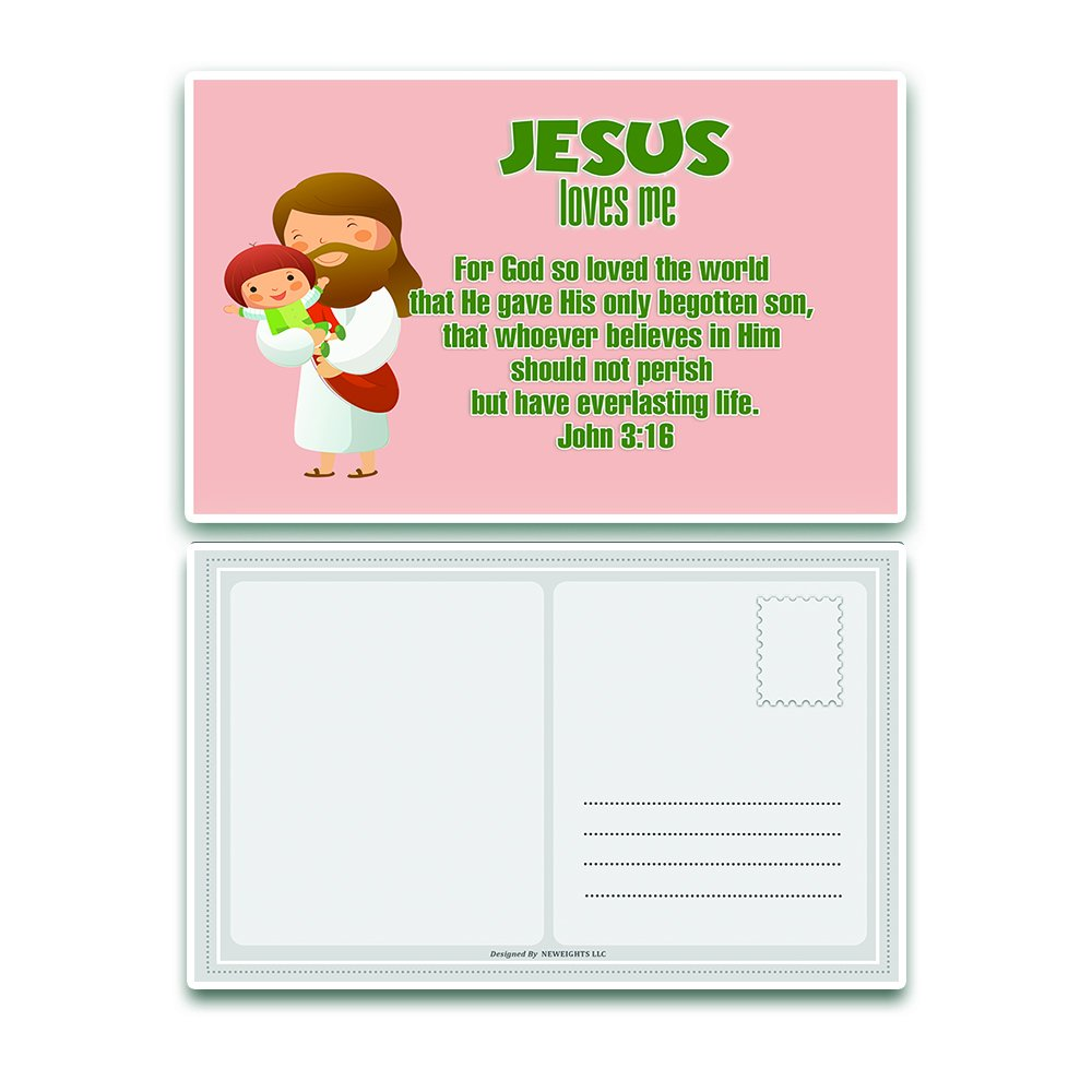 Amazon.com : NewEights Christian Postcards Cards for Kids Boys Girls ...