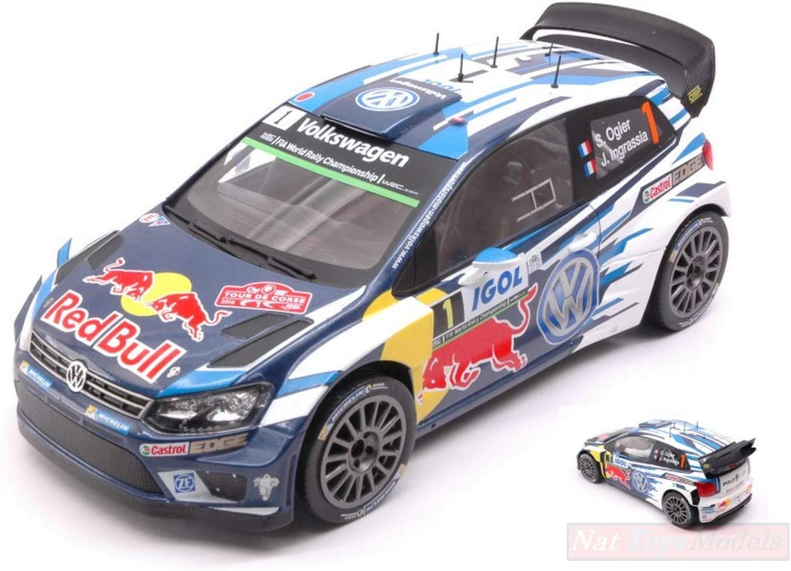 Ixo Model 18RMC018A VW Polo R WRC N.1 Tour DE Corse 2016 OGIER ...