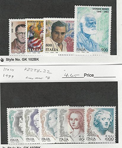 Italy, Postage Stamp, 2192-2195, 2228-2232 Mint NH, 1998-99 ()