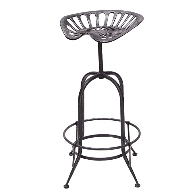 Terrific Decent Home Industrial Metal Corkscrew Rivet Adjustable Swivel Trackor Saddle Seat Design Bar Stool Wrought Iron Beatyapartments Chair Design Images Beatyapartmentscom