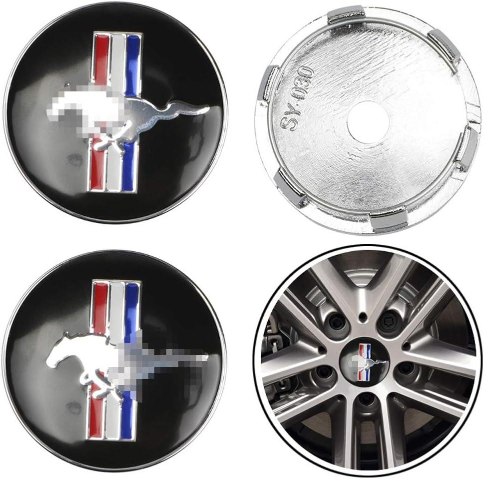 massage 4pcs 60mm Auto Radnabenkappen Nabendeckel Felgendeckel Emblem Abzeichen Staubdichte Abdeckung F/üR Ford Mustang Shelby GT