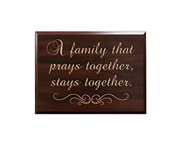 Amazoncom A Family That Prays Together Stays Together Decorative