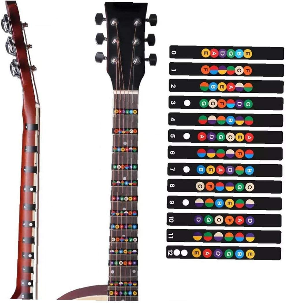3 Piezas Diapasón Mapa Etiqueta Guitarra Diapasón Notas Adhesivos ...