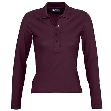 2b4e4a3c86bc1 SOLS Podium Damen Pique Polo-Shirt, Langarm: Amazon.de: Bekleidung