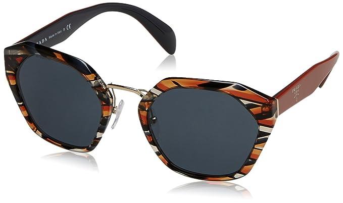 d7a39b0e3a8 Prada 0Pr04Ts Van9K1 55 Montures de lunettes Gris (Sheaves Orange Grey)