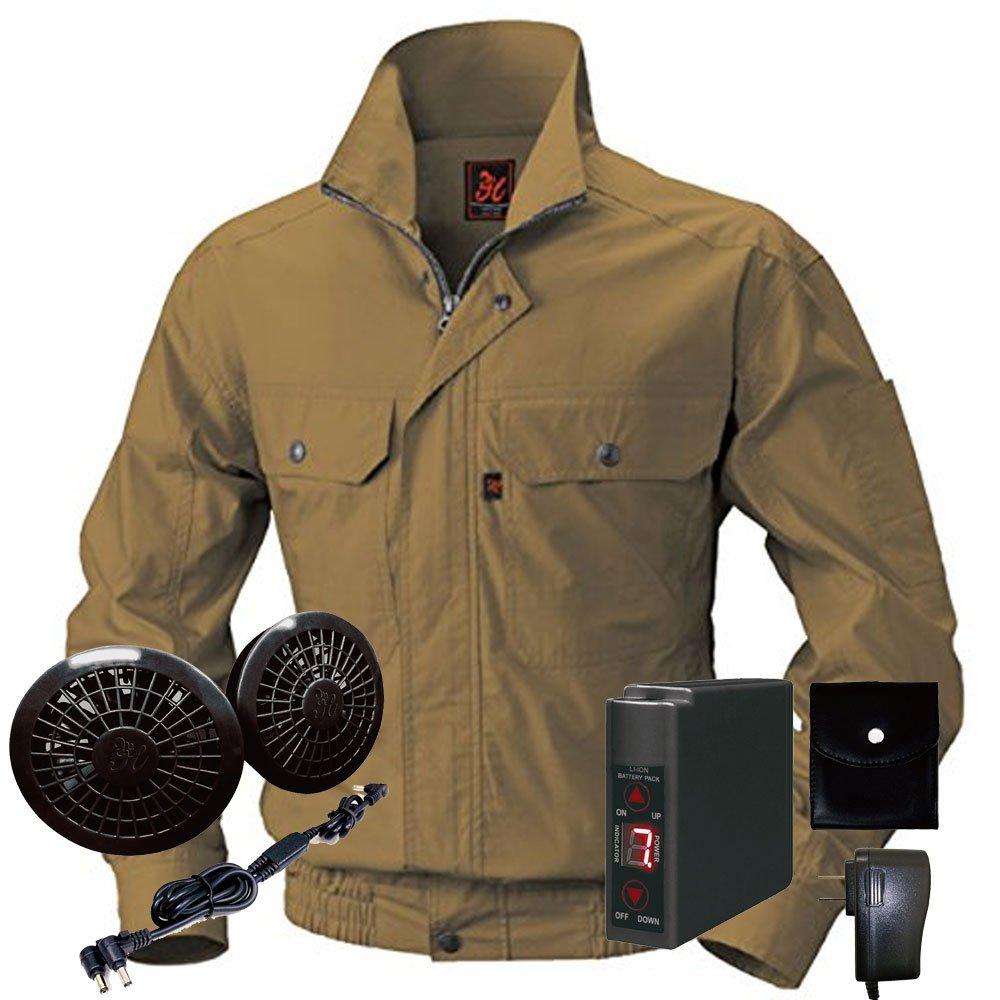 空調服快適ウェア ブルゾンバッテリーセット V722202set B071JX324P 4L|74キャメル 74キャメル 4L