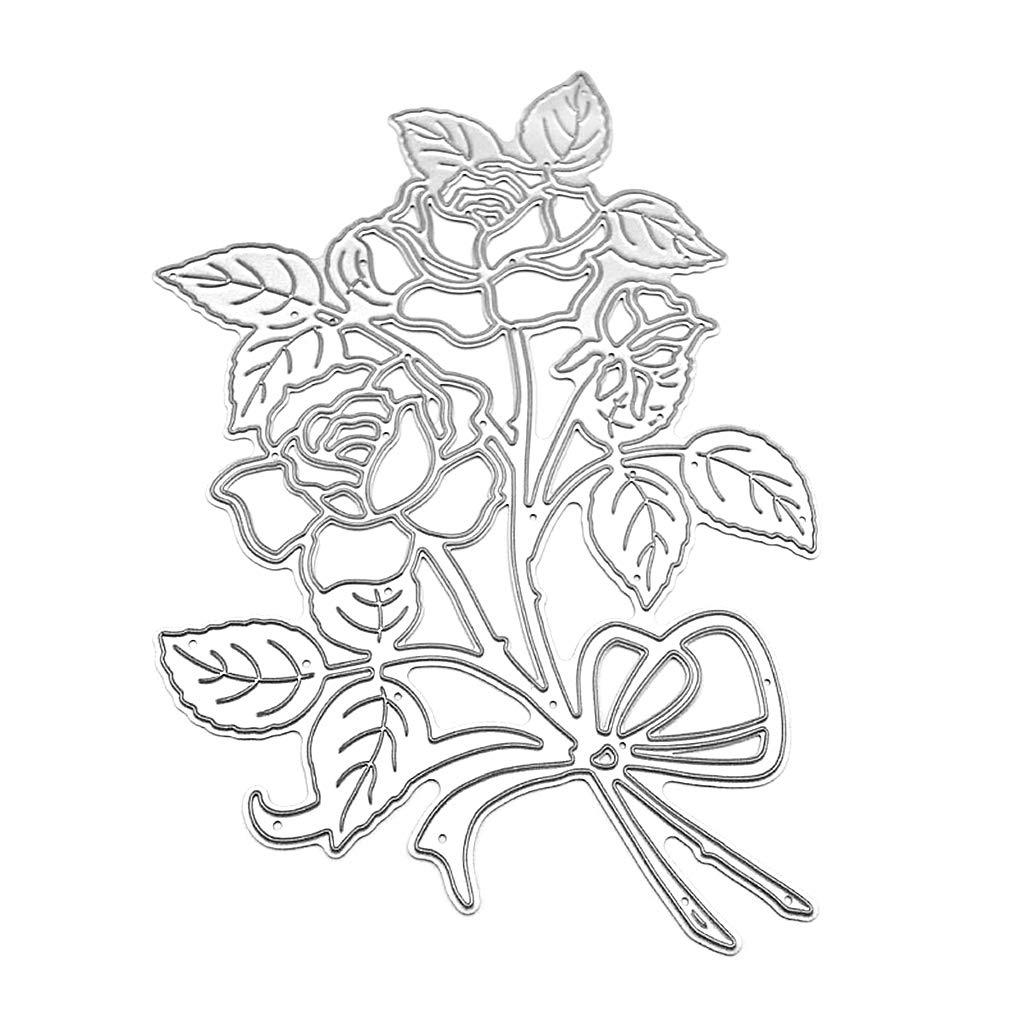 Bogji Impianto in Acciaio al Carbonio Fiore Modello Rosa Die Taglio Die Modello di goffratura Stampo per DIY Paper Art Craft Scrapbook Strumento di Decorazione della Carta