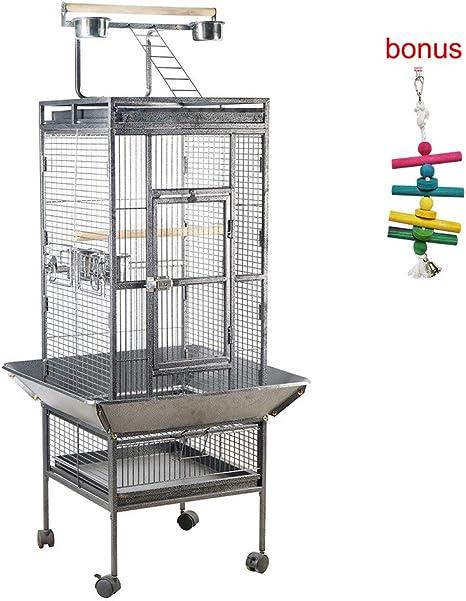 Galapara Jaula para Pájaros, Metal Grande Jaula de Pájaro Mascota ...