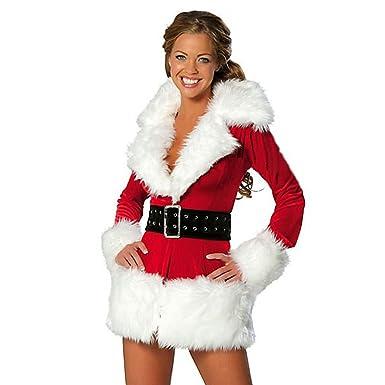 Amazon Com Hoter Women S Santa Claus Costume Women Santa Suit Fancy