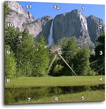 3dRose Yosemite Falls from Valley – Wall Clock, 15 by 15 DPP_36434_3