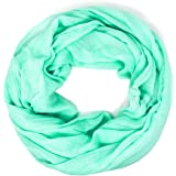 Me Plus Women Cotton Solid Soft Light Weight Loop Circle Neck Wrap Infinity Scarf