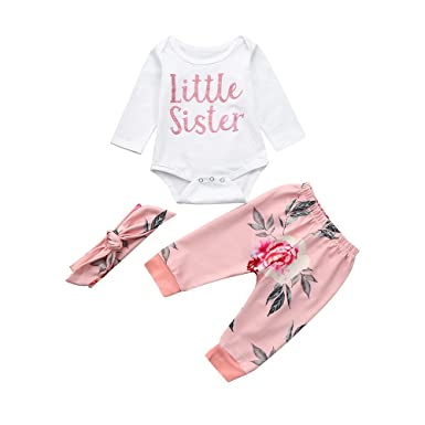 935e817ea0318 Amazon.com: Baby Outfits, 2019 Toddler Infant 3Pcs Baby Boy Girls ...