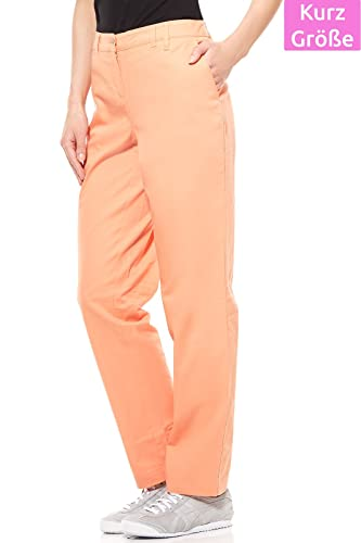 Cheer Chinohose Damen Hose Stretchhose Freizeithose Kurzgröße Orange   Amazon.de  Bekleidung bb461c88eb
