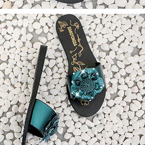 Libero Sandali Esterno Sandals 2017 Pu Leather Ladies Fashion Girls Spiaggia Da Scarpe Womens Per Piatti Tempo Interni Verde Toe Il Peep Clode v1qwZx