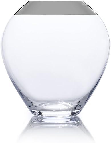Mikasa Serenity Platinum 7-Inch Urn Glass Vase