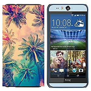 YiPhone /// Prima de resorte delgada de la cubierta del caso de Shell Armor - sol palmeras verano LA los Ángeles - HTC Desire Eye M910x