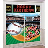 Baseball Scene Setter Wall Decorating Kit (Each)