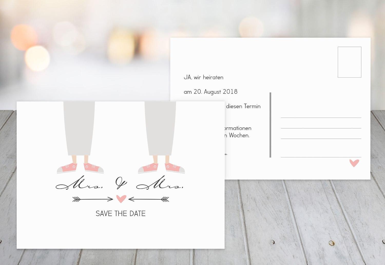 Save-the-Date Pärchen - Frauen, 30 Karten, Weiß B07B6M1P1X | Hochwertige Materialien  | Deutschland Frankfurt  | Gute Qualität