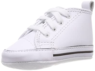 Converse First Star Hi White Leather 81229 Crib Size 4 b08b75389