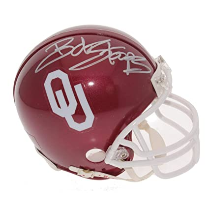 Amazon.com  Bob Stoops Autographed Signed Oklahoma Sooners Mini ... 353ed9779