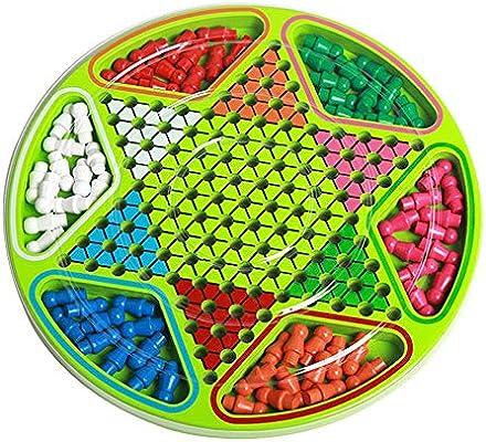 Juegos de Mesa para niños Hexágono Damas Padres e Hijos Puzzle Juegos de Mesa Ajedrez Entre Padres e Hijos Juguetes interactivos por diversión (Color : True Color, Size : Free Size): Amazon.es: