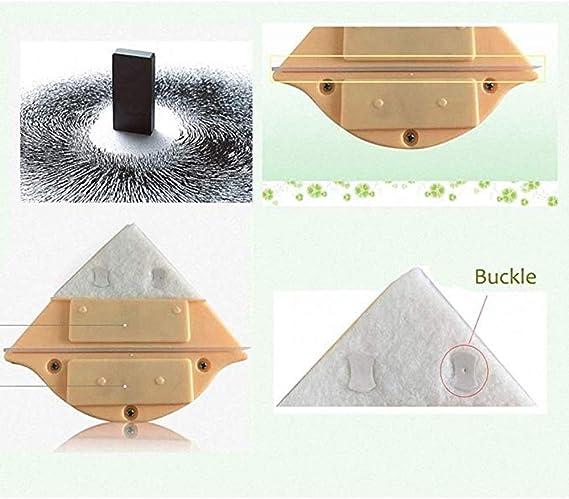 Limpiador De Ventanas Magnético, Mango Cómodo/Esponja Absorbente Limpiacristales Magnetico De Doble Cara, Morado 3-8mm / Amarillo 5-12mm / Rosa 15-24mm, Manual (Size : C): Amazon.es: Hogar
