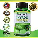 Thyroid Support Supplement with iodine, Energy And Focus Enhancing Supplement - Natural Thyroid Supplement - Supports Weight Loss, Increased Metabolism, Healthy Immune System Capsules