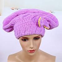 Gorro de secado de cabello de 3 colores, microfibra Gorro de envoltura seca de cabello ultra absorbente Torre de cabello…