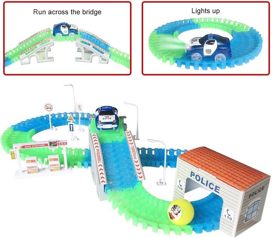 CHUANG FENG Pista de Coches de Policía Electrico Juguete de Construccion Juegos Educativos para Niños 3 4 5 Años
