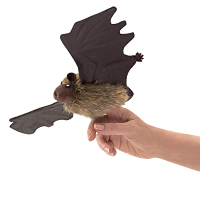 Folkmanis 3127 Little Brown Bat Finger Puppet, One Size, Multicolor: Toys & Games