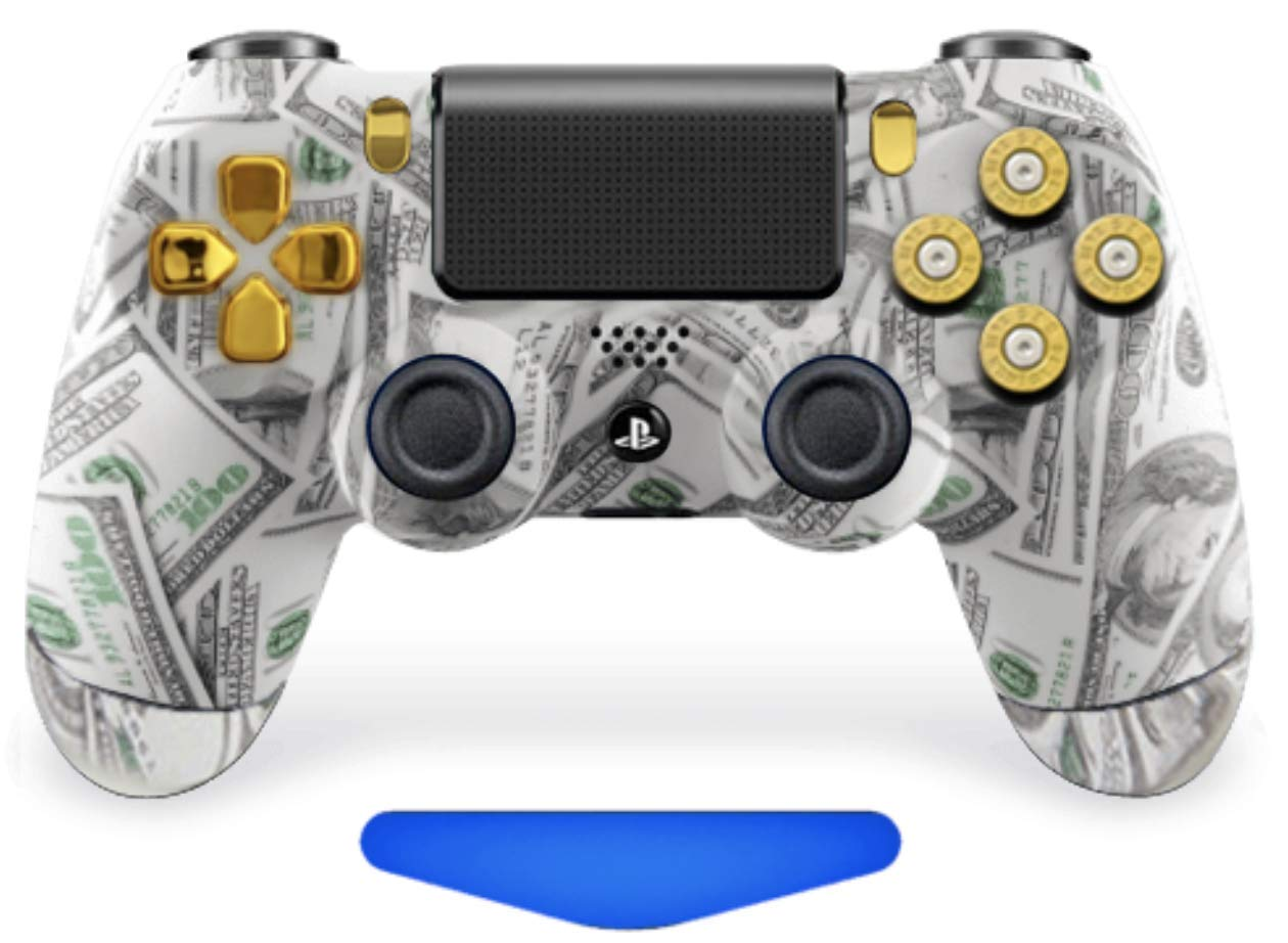 Amazon Com Money Bullets Ps4 Custom Un Modded Controller With 9mm Bullet Buttons Exclusive Design Video Games