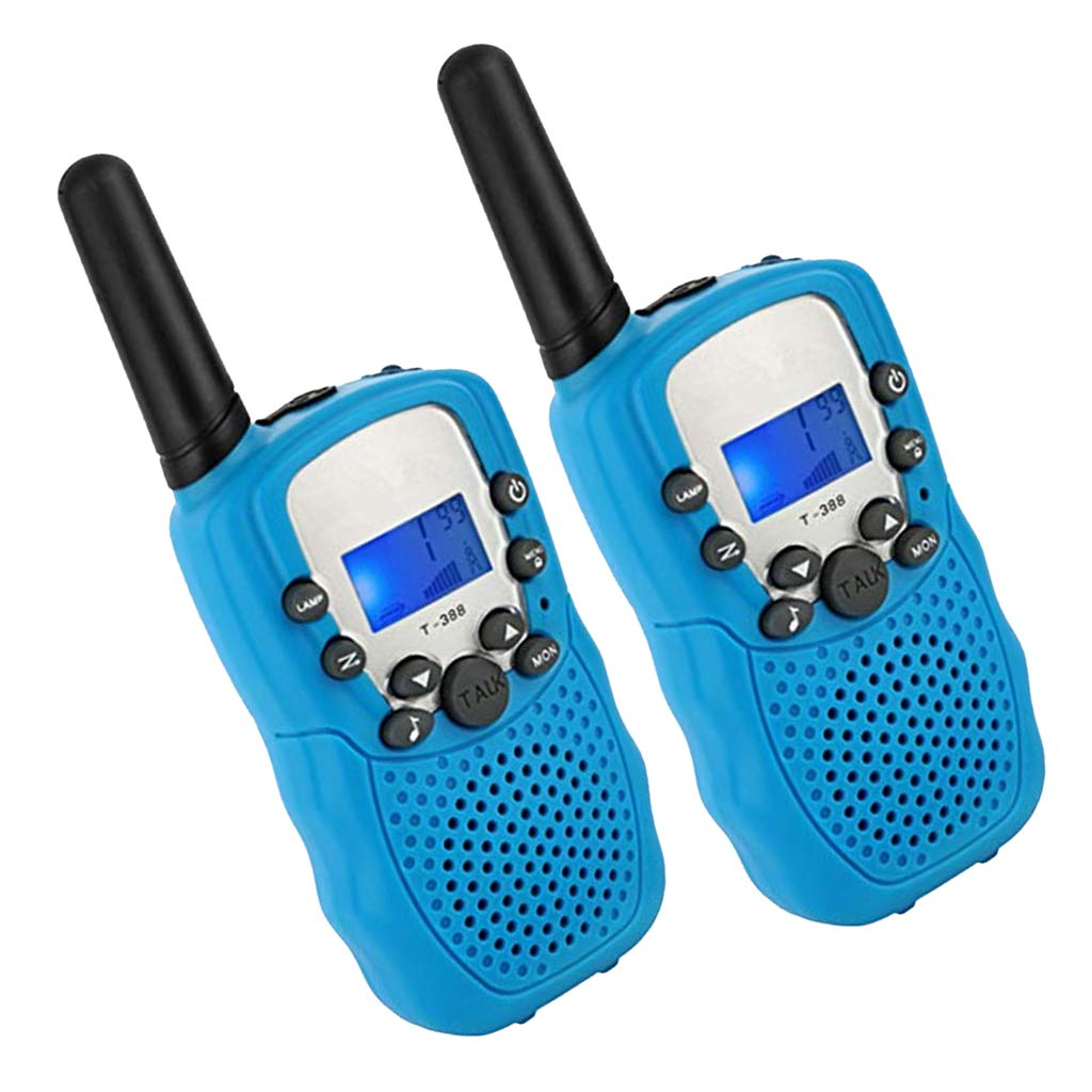 Bleu Sharplace 2X Talkies-Walkies /à Commande Vocale 2 Voies Enfants