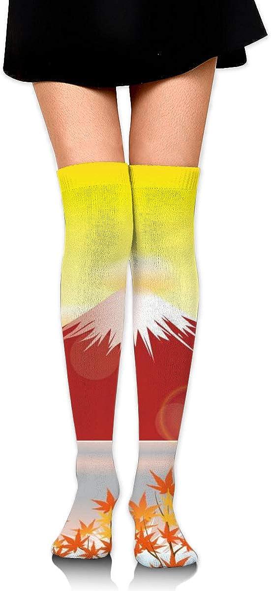 Kjaoi Girl Skirt Socks Uniform Mountain and Maples Women Tube Socks Compression Socks
