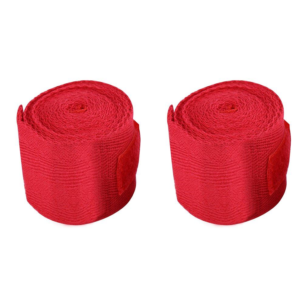2.5/m 3/Colori 2PCS//Set Cotone Bendaggio Fasce per Mani per Boxe Red Blue Kickboxing Dioche Boxe bendaggi da Uomo