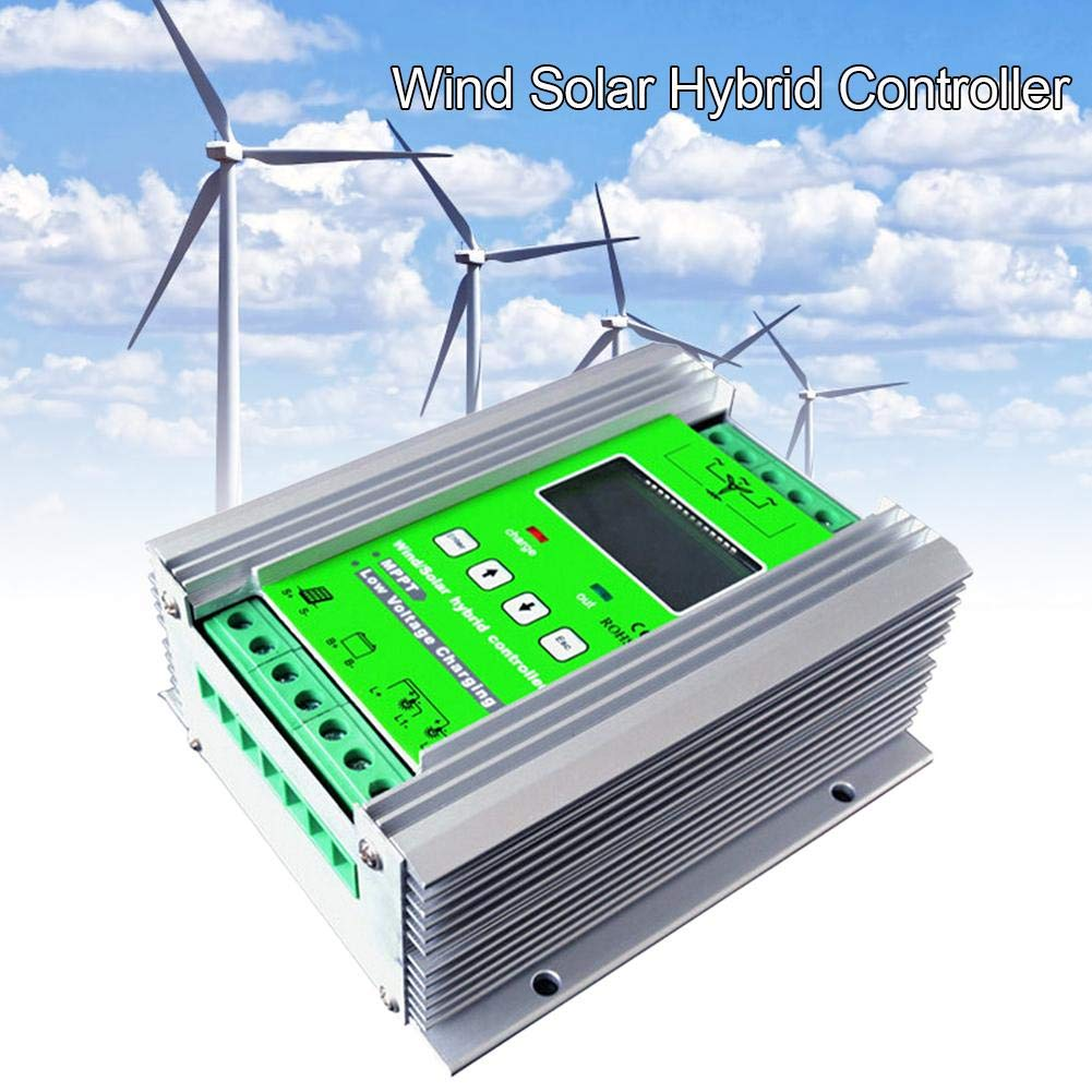 R/égulateur /éolien R/égulateur Solaire Turbine /éolienne Blue-Yan R/égulateur de Charge Solaire /éolienne Hybride 1200W MPPT R/égulateur de Charge /éolienne Vent 800W + Solaire 400W