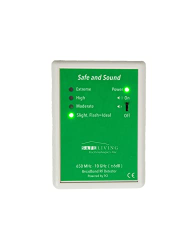 Safe Living Technologies Safe and Sound Classic Premium RF Detector 200MHz – 12GHz – Great for detecting WiFi, Cell Towers, Smart Meters, etc. – 2 Year Warranty