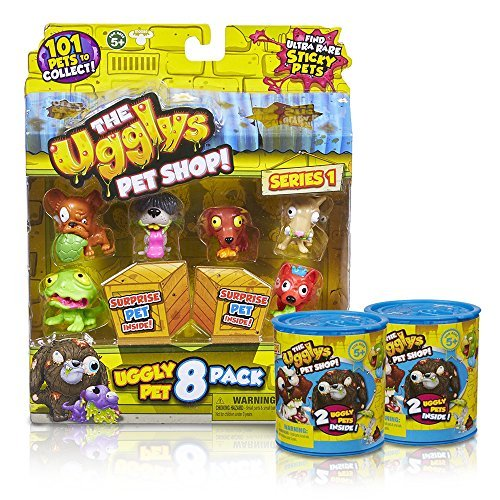 The Ugglys Pet Shop 8 Pack Uggly Pets with 2 Blinds (Styles Will Vary) by Moose Toys