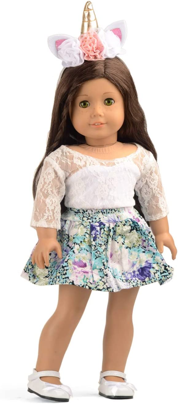 "Ivory Long Sleeve Lace Blouse Fits 18/"" American Girl  Dolls"