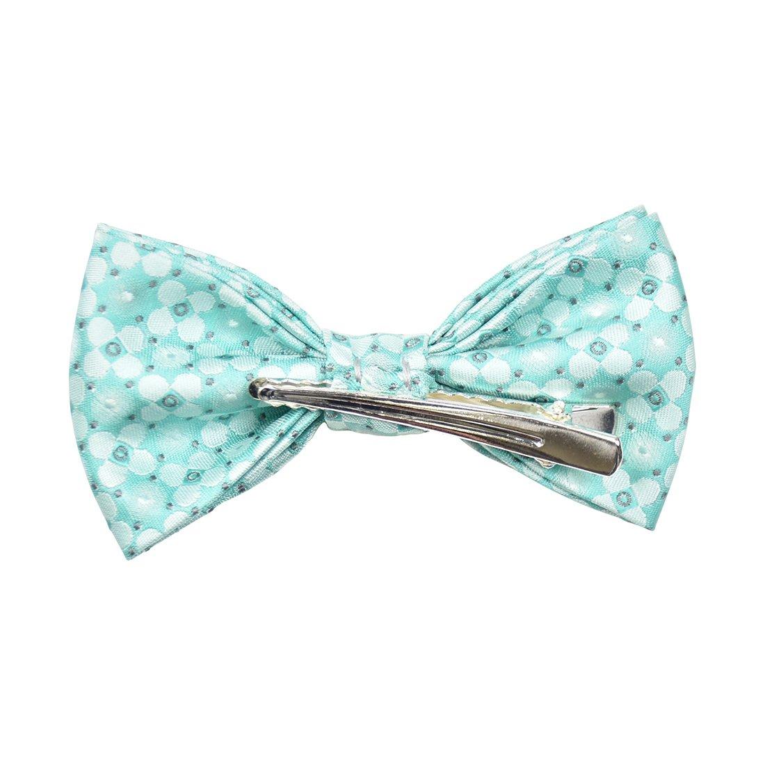 Floral Satin Clip-On Bow Tie AGBT0035NV