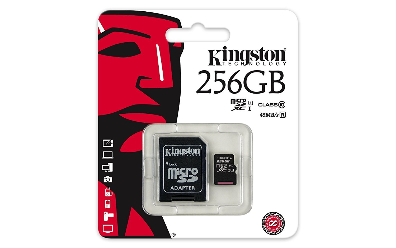 Professional Kingston 256GB TP260 MicroSDXC Card with custom formatting and Standard SD Adapter! (Class 10, UHS-I) by Custom Kingston for LG (Image #4)