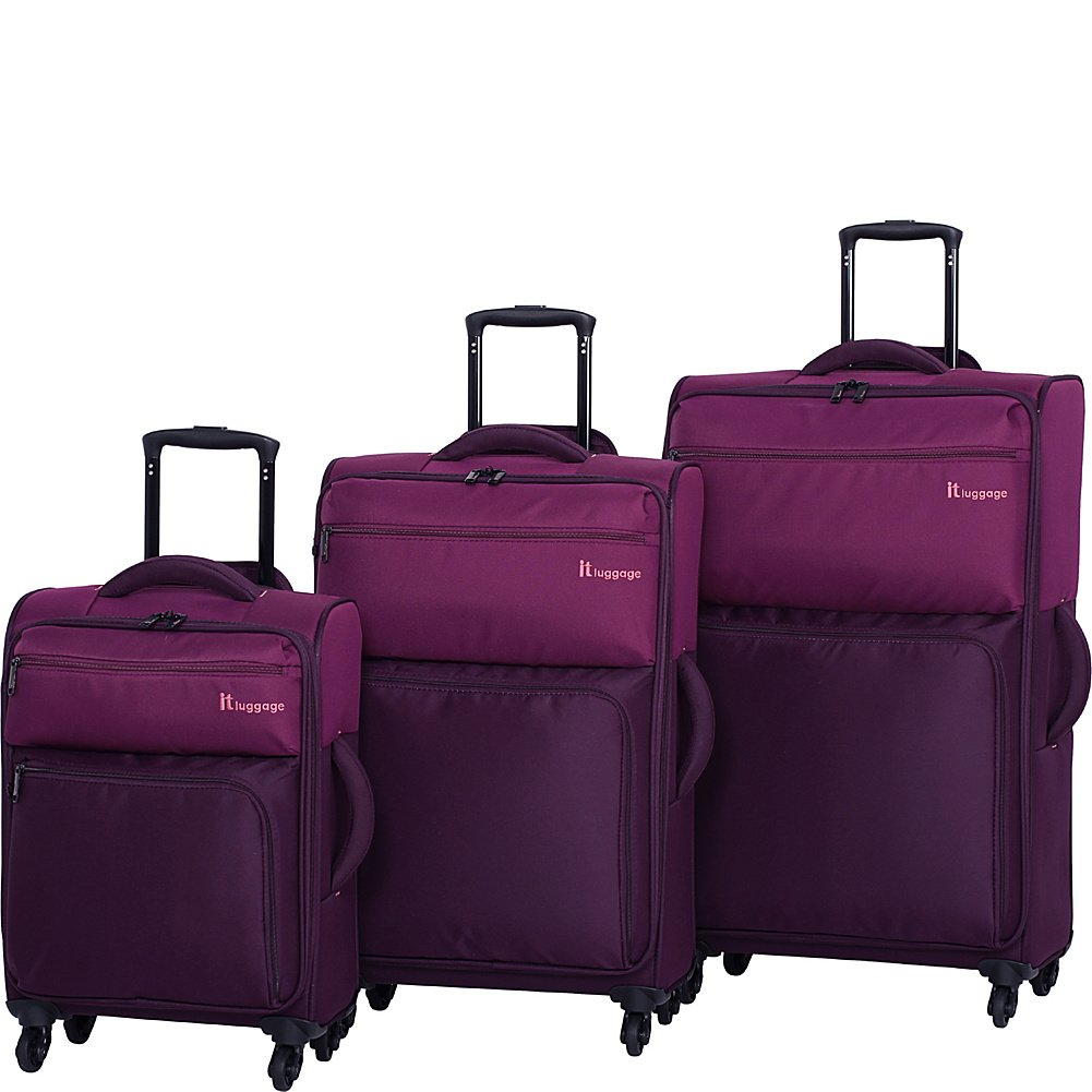 IT Luggage Duotone 4 Wheel Lightweight 3 Piece Set, Tritex Red Clay Magnet IT Luggage Parent Code 12-151904-USA3N-M156