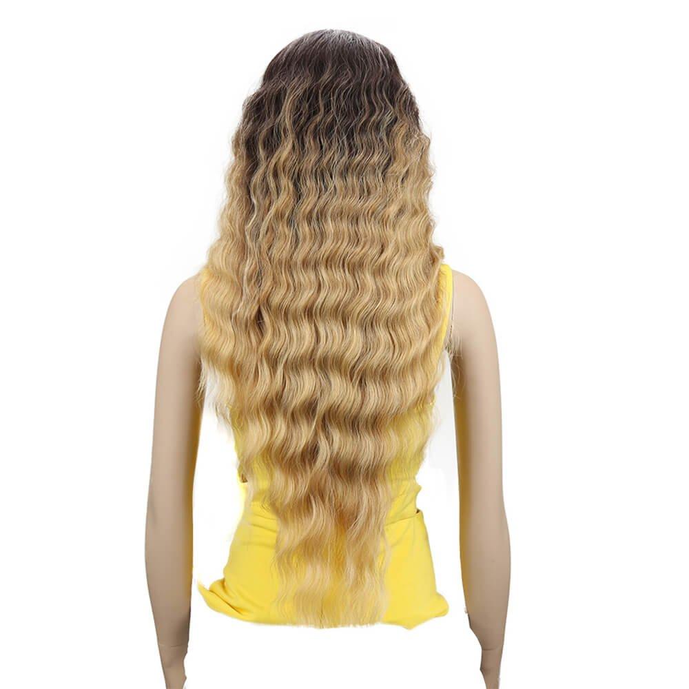 Joedir Lace Front Wigs 30'' Long Wavy Synthetic Wigs For Black Women 130% Density Wigs(TAT6/27/24E)