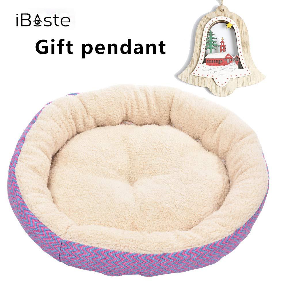 Pet Nest Camas para gatos grandes Deluxe Deluxe Resistente a los arañazos Cálidas acogedoras Cama para perros con cojín Canasta Lavable Forma redonda Fleece ...