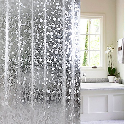 Fabric Shower Curtain Liner Thicker Set For Bathroom Mildewproof Waterproof And Washable Cloth