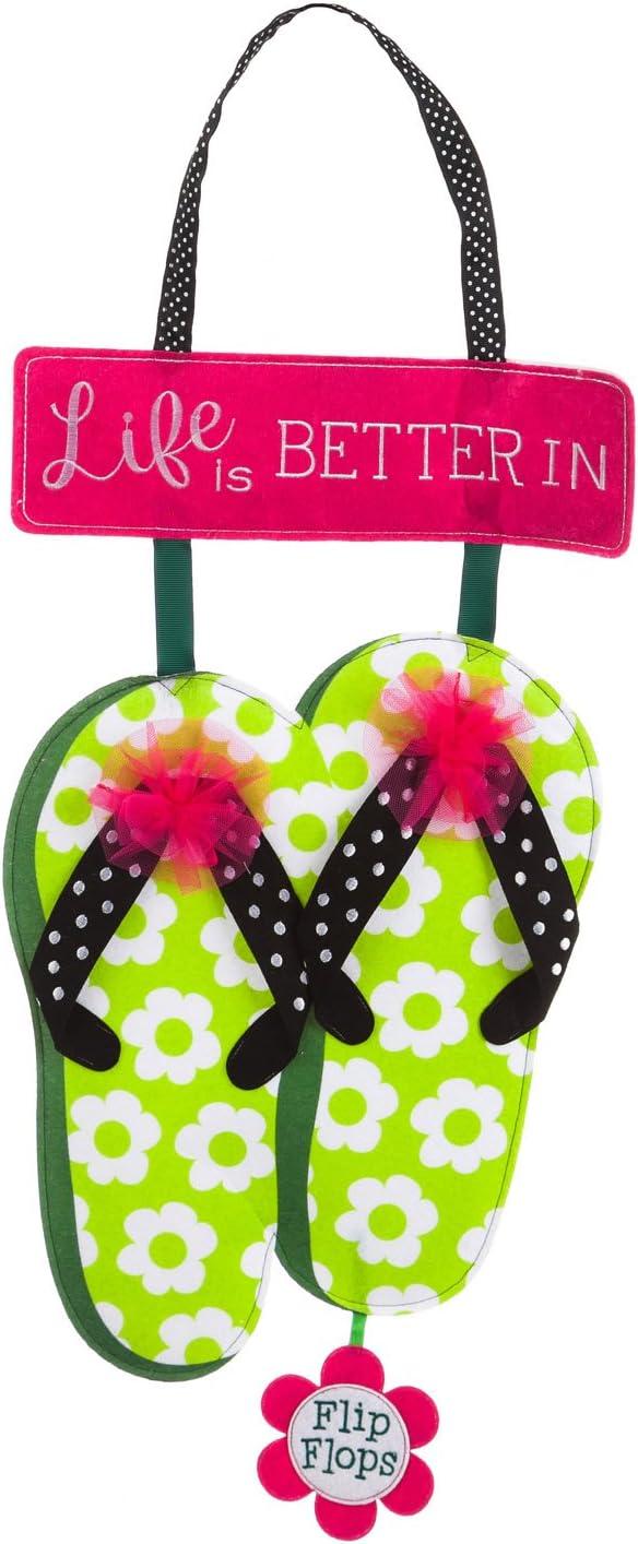 Flip flops outdoor summer door décor piece