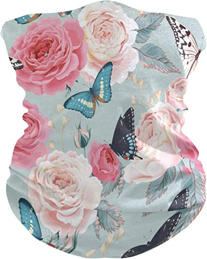Beautiful Cherry Blossoms Neck Gaiter Windproof Scarf Face Masks Anti-Dust For Men