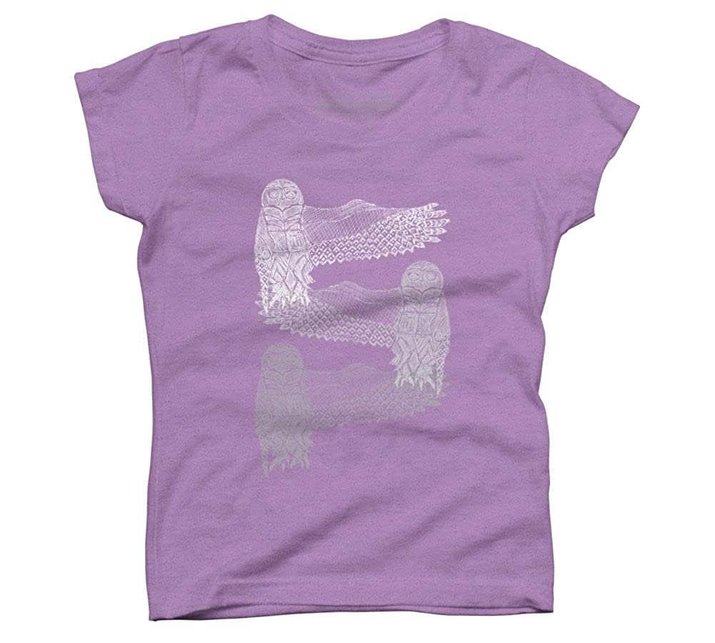 Design By Humans Snowy Owls Girls Youth Graphic T Shirt