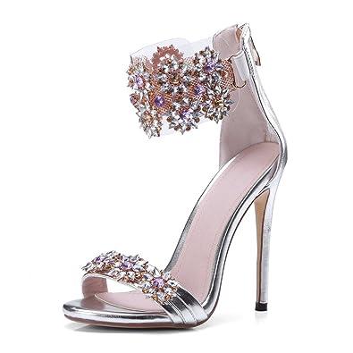 5494dc2aa86589 JF shoes Women s Dress Sandals Women s Rhinestone Sandals